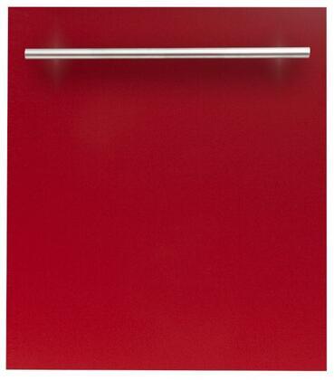 ZLINE  DWRGH24 Built-In Dishwasher Red, DWRGH24 Top Control Dishwasher