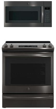 GE  845675 Kitchen Appliance Package Black Stainless Steel, 1