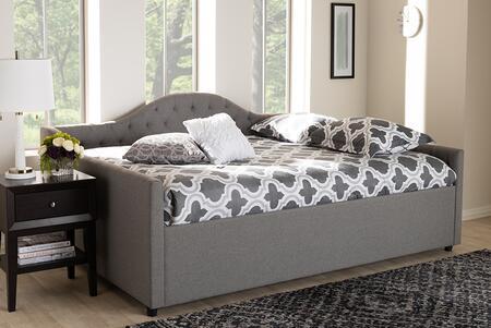Baxton Studio 114.64 lbs. CF8940BGREYDAYBEDQ Bed Gray, 8720 8722 5