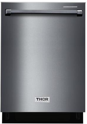 Thor Kitchen  HDW2401BS Built-In Dishwasher Black Stainless Steel, HDW2401BS0 Front View