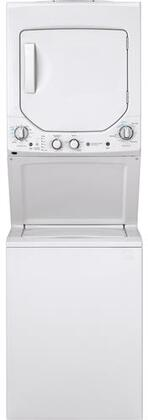 GE GUD24GSSMWW 24 Inch Gas Laundry Center with 2.3 cu. ft. Washer Capacity, in White