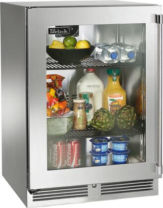 Perlick Signature HP24RS43LL Compact Refrigerator Stainless Steel, Main Image