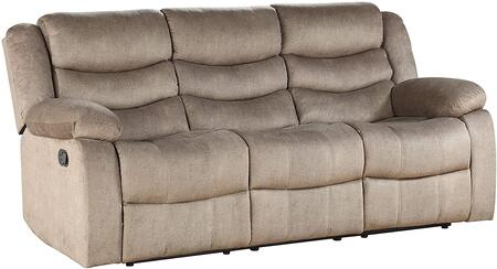 Angelina Collection 55040 Sofa (Motion)  Horizontal Tufted  External Latch Handle  KD Back  Tight Back & Seat Cushion  Armrest Pillow Top  Wood &