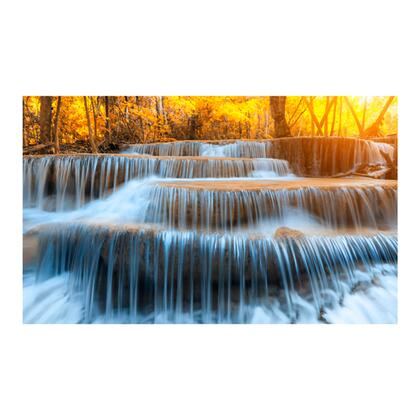 Tempered Glass Series AR30439627 Autumn Waterfall 60″ x 36″ Tempered Glass Wall Art in Multi
