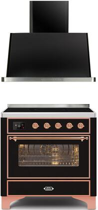 Ilve Majestic II 1260273 Kitchen Appliance Package Black, Main image