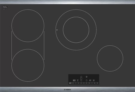 Bosch 800 Series NET8068SUC Electric Cooktop Black, Main Image