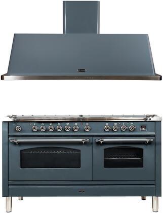 Ilve Nostalgie 1352044 Kitchen Appliance Package Blue Grey, Main image