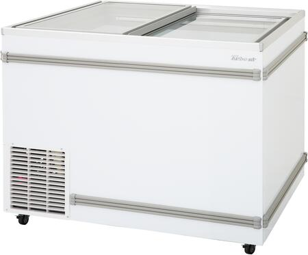 Turbo Air TFS11FN Commercial Glass Top Freezer White, TFS11FN Angled View