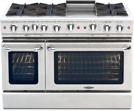 Capital Culinarian CGSR484G2 Freestanding Gas Range, Burner Configuration