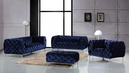 Meridian Mercer 646NAVYSLCO Living Room Set Blue, Main Image