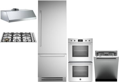 Bertazzoni  1054988 Kitchen Appliance Package Stainless Steel, main image