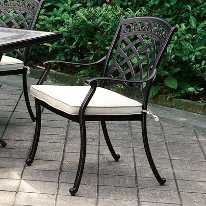 Furniture of America Charissa CMOT2125AC2PK Patio Chair, cm ot2125 ac