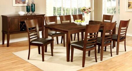 Furniture of America Hillsview I CM3916T788SCSV Dining Room Set Brown, main image