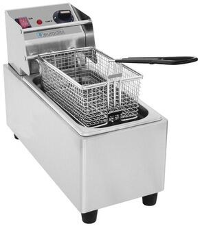 SFE01820120 Electric Countertop Fryer With Thermostat Control  0.8 gal Capacity in Stainless -  Eurodib