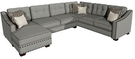 Gardena Sofa Lexington GDNCA47 Sectional Sofa Gray, 1