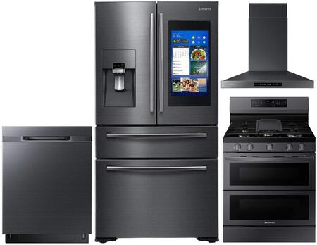Samsung  1011425 Kitchen Appliance Package Black Stainless Steel, main image