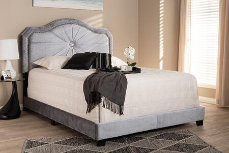 Baxton Studio Embla EMBLAGREYFULL Bed Gray, 9005 9006 9007 5