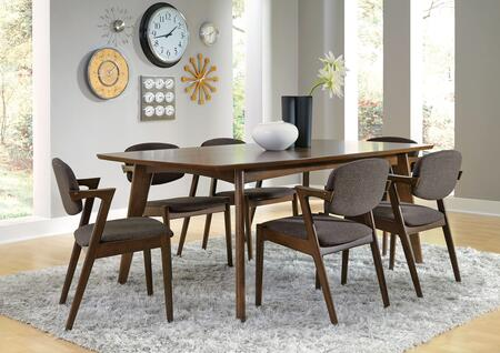 Coaster Malone 105351S7 Dining Room Set Brown, Main Image