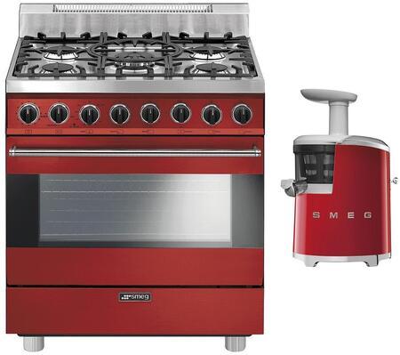 Smeg 891130 Kitchen Appliance Package & Bundle Red, 1