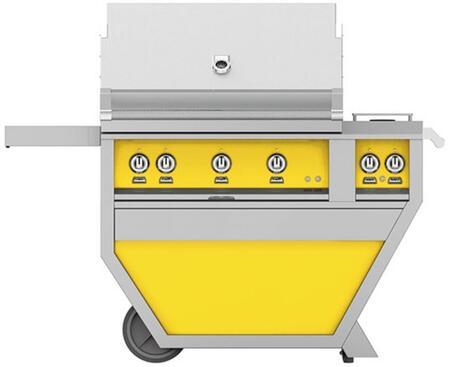 Hestan GABR36CX2LPYW Liquid Propane Grill Yellow, Front View