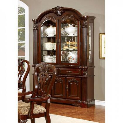 Furniture of America Elana CM3212HBSET China Cabinet Brown, Main Image