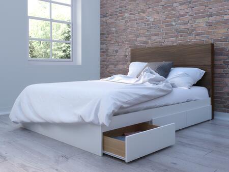 Nexera Multiple Series 402001 Bed White, Main Image