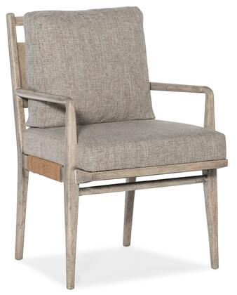 Hooker Furniture American Life-Amani 16727530280 Dining Room Chair Gray, Silo Image