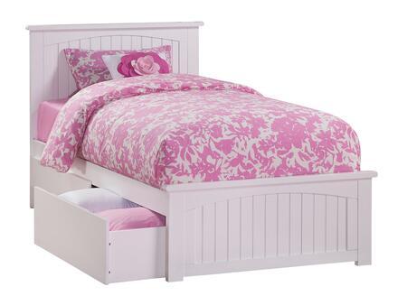 Atlantic Furniture Nantucket AR8226112 Bed White, AR8226112 SILO BD2 30