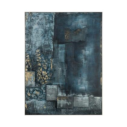 1219-062 Sink Hole Wall Decor  In Teal And