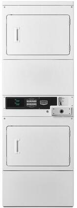 Maytag Commercial  MLE26PDBYW Commercial Stacked Dryers White, Main Image