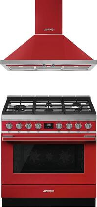 Smeg  950938 Kitchen Appliance Package Red, 1