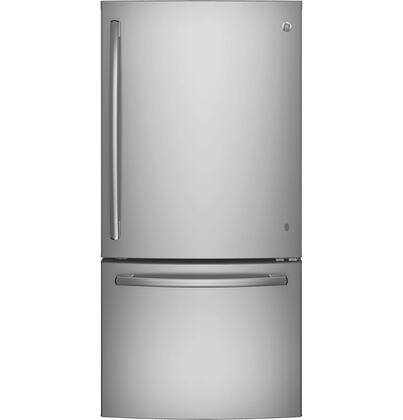 GE  GDE25ESKSS Bottom Freezer Refrigerator Stainless Steel, Main Image
