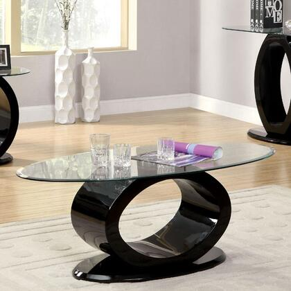 Furniture of America Lodia III CM4825BKC Coffee and Cocktail Table Black, Main Image