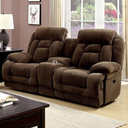 Furniture of America Grenville CM6010LVPM Loveseat Brown, Main Image