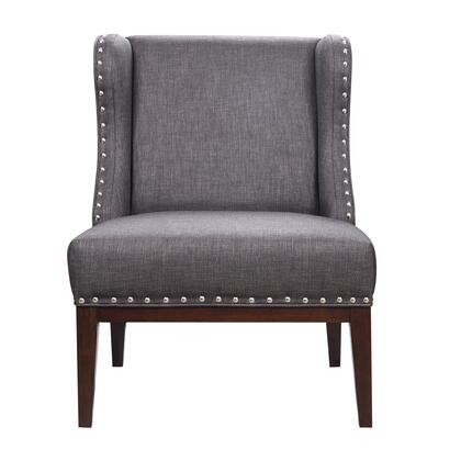 156DS-A293-093-363 Upholstered Wingback Accent Chair in Carbon