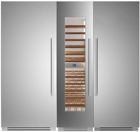 Bertazzoni  1309165 Column Refrigerator & Freezer Set Stainless Steel, Main Image