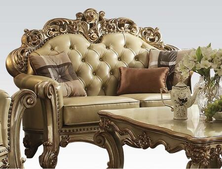 Acme Furniture Vendome 53001 Loveseat Gold, Loveseat