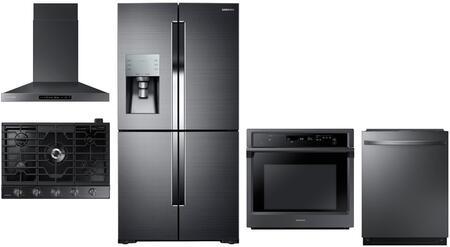 Samsung 1125359 Kitchen Appliance Package & Bundle Black Stainless Steel, main image