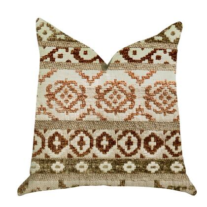 Desert Collection PBRA1309-1818-DP Double sided  18″ x 18″ Plutus Arabesque Shades of Brown Luxury Throw