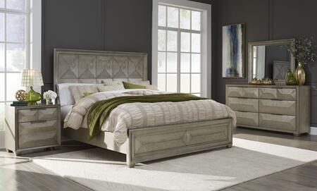 Global Furniture USA Global Furniture USA SOHOSILVERKBDMNS Bedroom Set Silver, soho silver qb 3