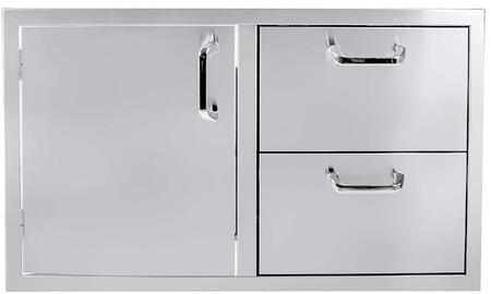 HTX-40-DRDWR 36″ Single Door/2 Drawer Combo in Stainless