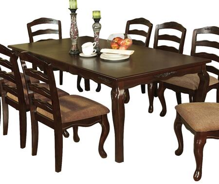 Furniture of America Townsville CM3109T78 Dining Room Table Brown, main image