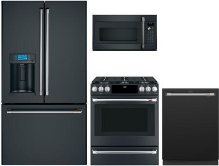 Cafe  1066862 Kitchen Appliance Package Matte Black, Main image