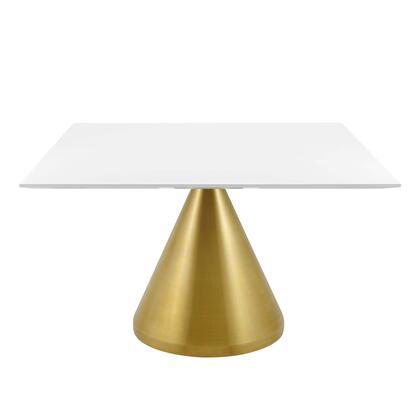 Modway Tupelo EEI5334GLDWHI Dining Room Table White, EEI 5334 GLD WHI 1