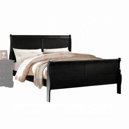 Acme Furniture Louis Philippe 23740T Bed Black, Angled View