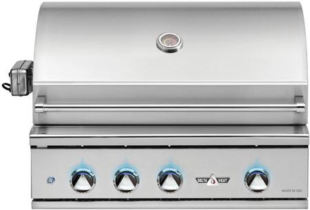 DHBQ32RS-DN 32″ Natural Gas Grill with Two Stainless Steel U-Burners  Sear Zone Burner  Rotisserie  525 sq. in. Grilling Space  Warming Rack and LED