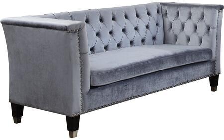 Acme Furniture Honor 52785 Stationary Sofa Blue, Main Image