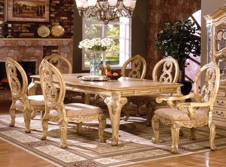 Furniture of America Tuscany III CM3845WHTTABLE Dining Room Table White, Without Chairs
