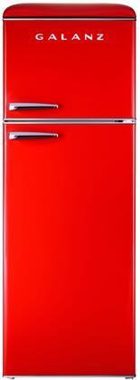 Galanz  GLR12TRDEFR Top Freezer Refrigerator Red, 1