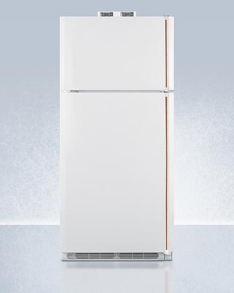 Summit  BKRF18WCPLHD Top Freezer Refrigerator , BKRF18WCPLHD Copper Handle Top Freezer Refrigerator